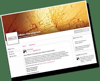 balsemen thanatopraxie sociaal netwerk branche collega's