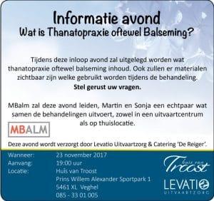 Informatie avond: Wat is Thanatopraxie / Balsemen?